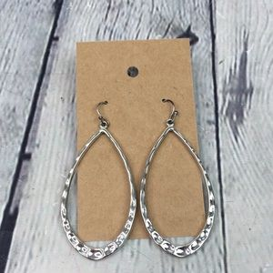 5/$25 Boho silver tone large oval imprinted pretty